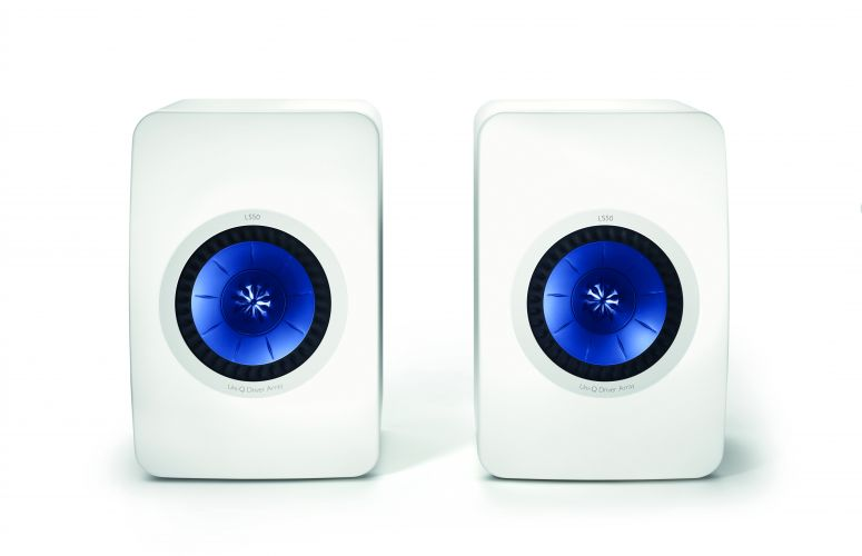 KEF launches multi-award winning LS50 speakers in new high gloss piano white finish